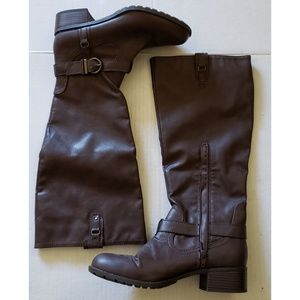 Rampage Chocolate Brown Ivelia Knee High Boots